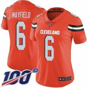 Women Browns Baker Mayfield 100th Season Jersey (4